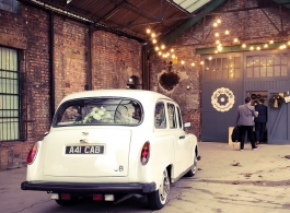 White wedding Taxi hire in Manchester